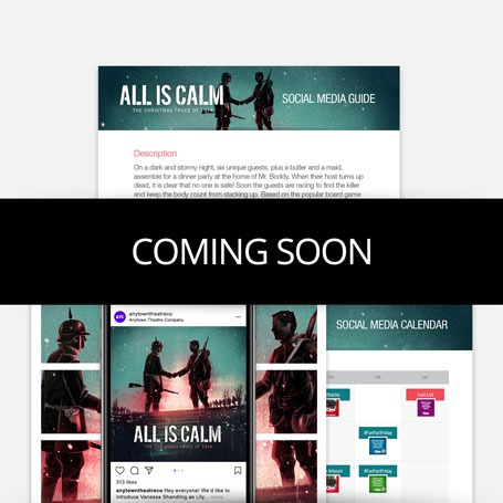All Is Calm Promotion Kit & Social Media Guide