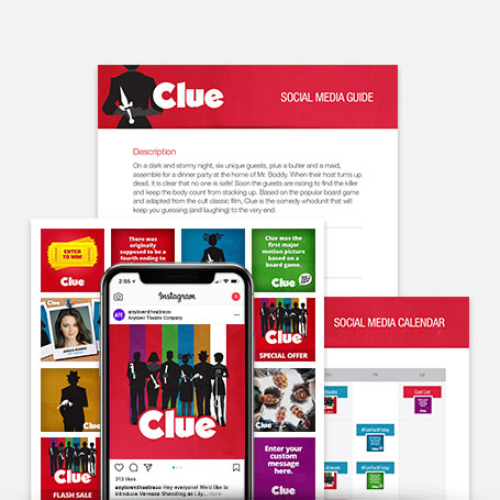 Clue Promotion Kit & Social Media Guide