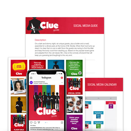 Clue Stay-At-Home (High School) Promotion Kit & Social Media Guide