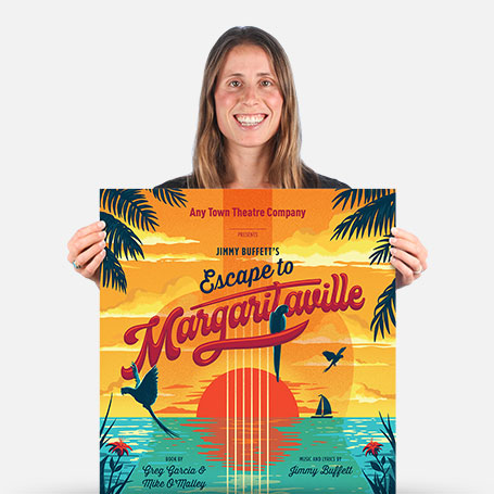 Escape to Margaritaville Official Show Artwork