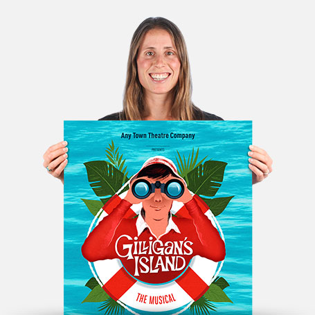 Gilligan's Island: The Musical Official Show Artwork