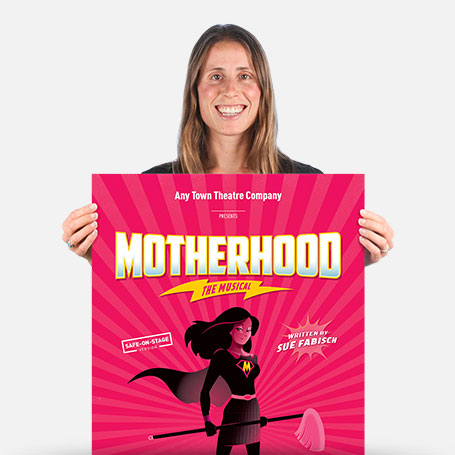 Motherhood The Musical Safe-On-Stage Official Show Artwork