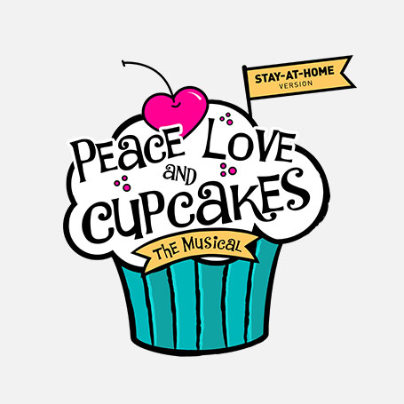 Peace, Love, and Cupcakes Stay-At-Home Logo Pack