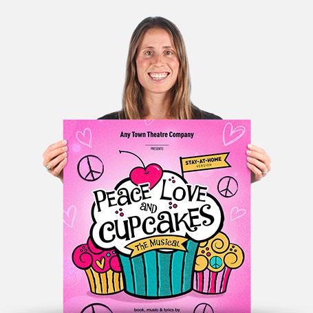 Peace, Love, and Cupcakes Stay-At-Home Official Show Artwork