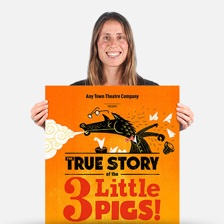 The True Story of the 3 Little Pigs! Official Show Artwork