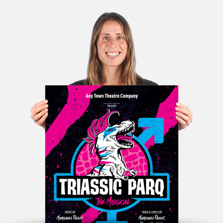 Triassic Parq Official Show Artwork